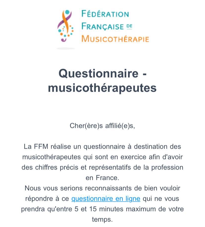 フランスの音楽療法学会FFM